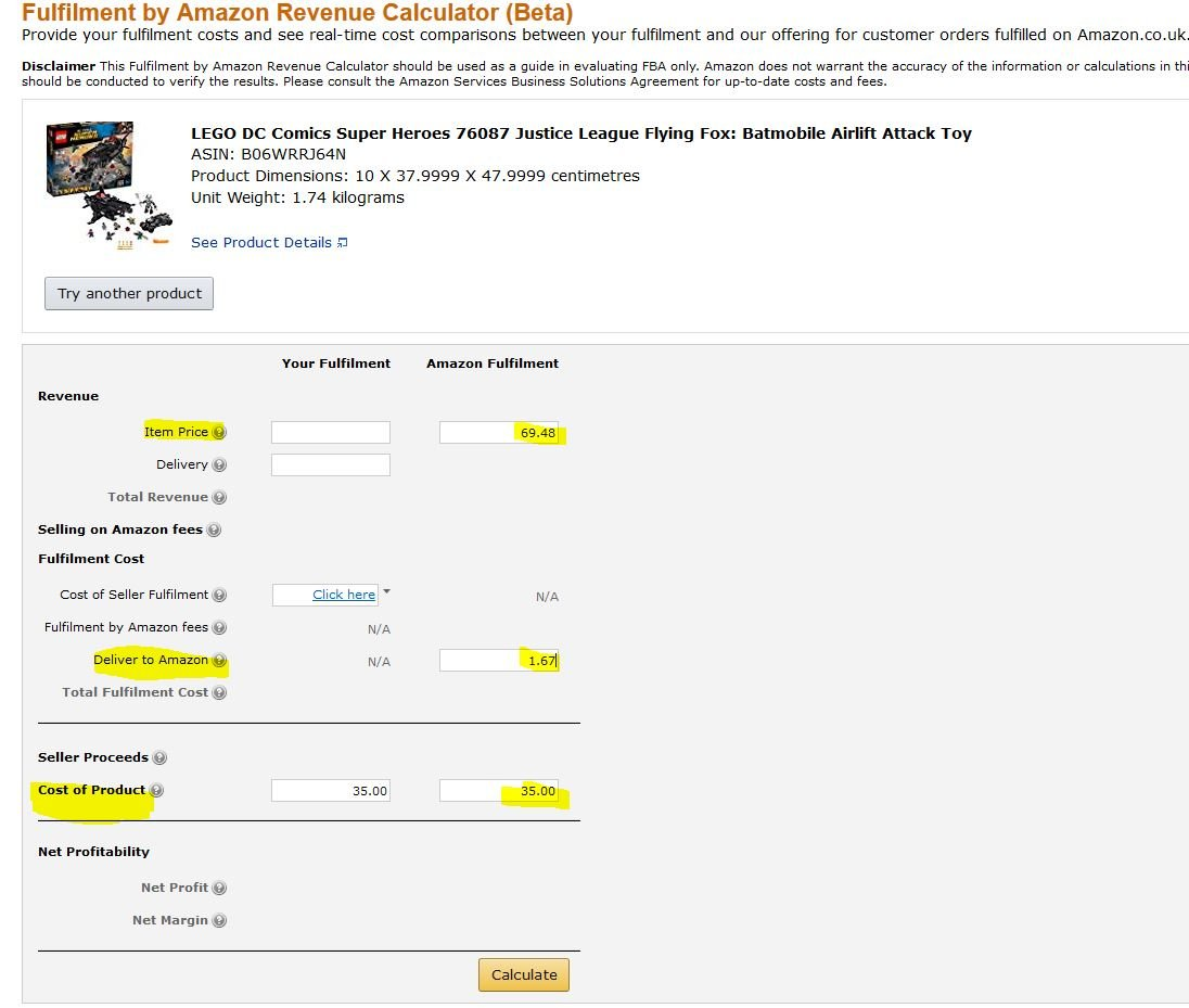 Amazon Calculator Retail Arbitrage
