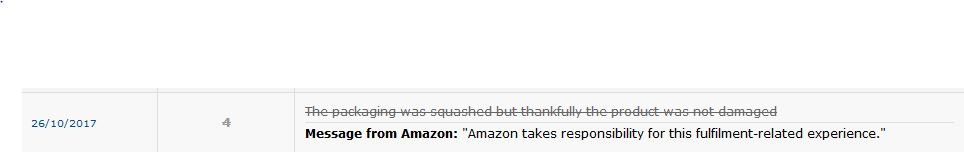 Amazon Feedback Removal