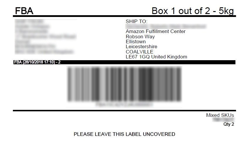 Shipping Label Amazon