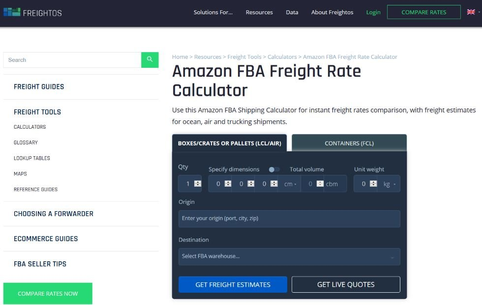 Freightos Freight Calculator