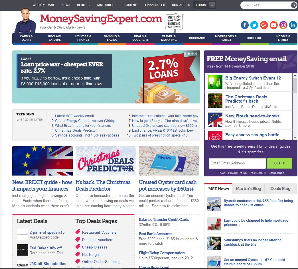 MoneySavingExpert Affiliate Marketing