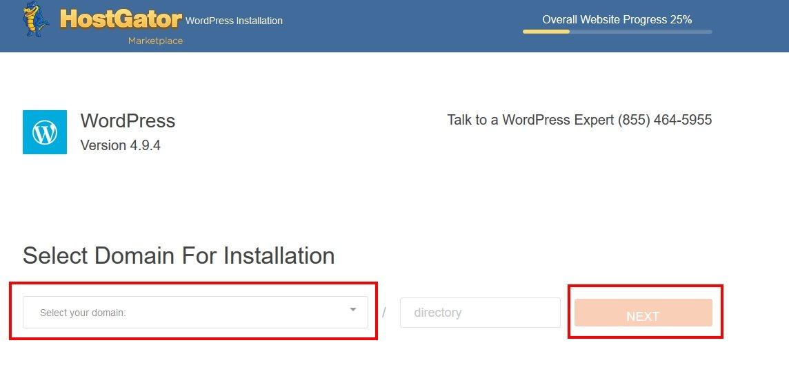 HostGator Installing WordPress