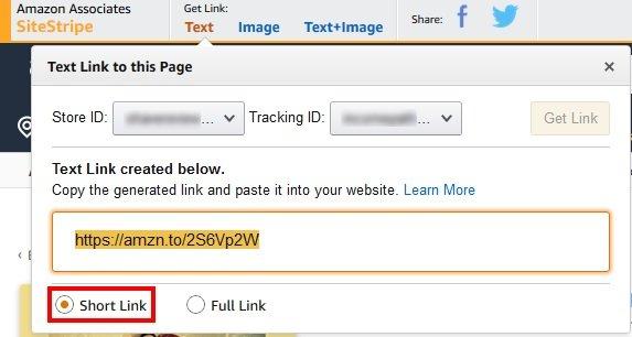 Amazon Associates Link shortner