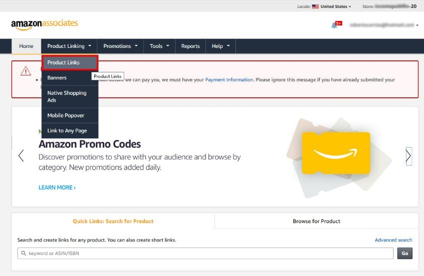 Product Links Amazon Associates