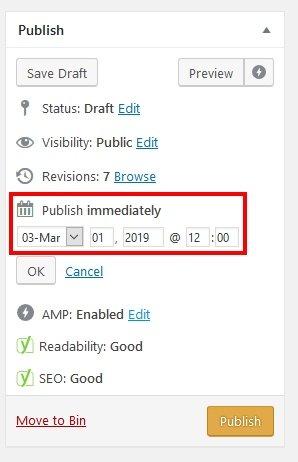 Blog Post Publishing Schedule