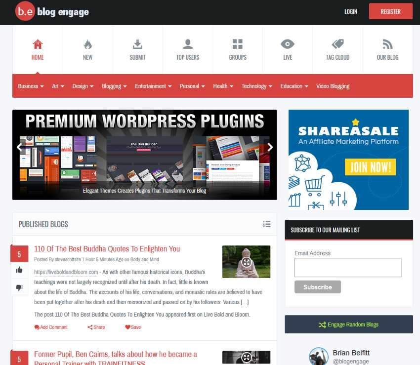 Blog Content Promotion Using Blog Engage