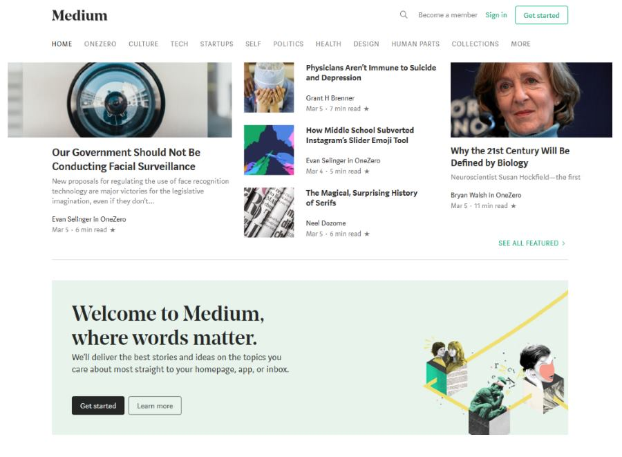 Using Medium for Content Syndication