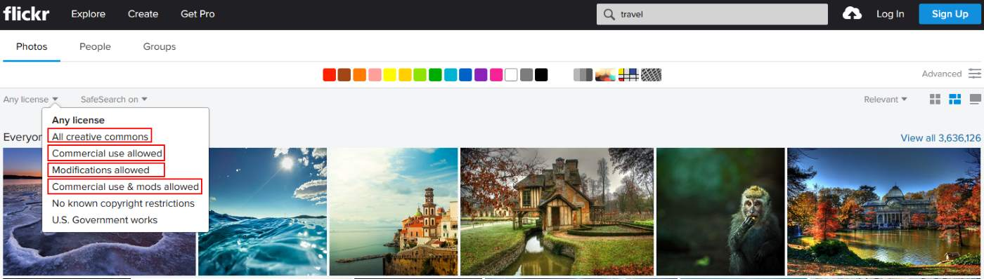 Using Flickr to Find Stock Images