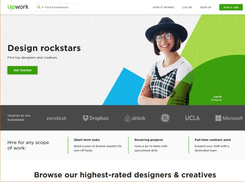Finding Freelance Graphic Designers Using UpWork