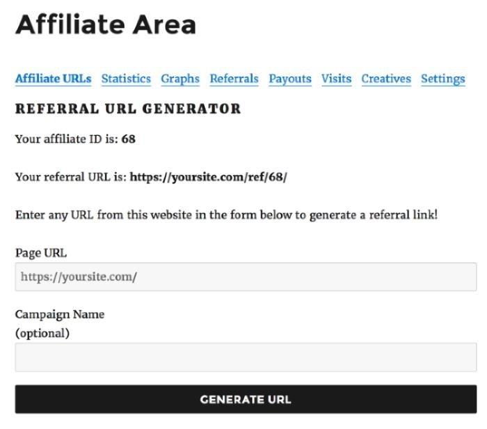 AffiliateWP Link Generator