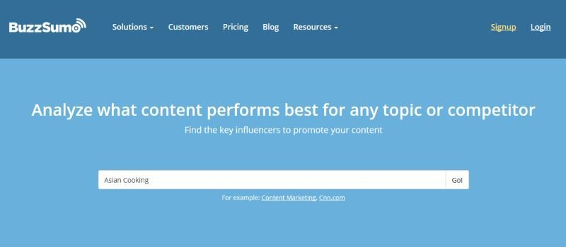 BuzzSumo Search