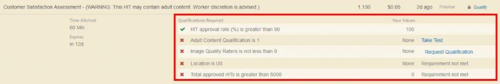 MTurk Qualifications